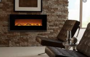 Touchstone 80001 Onyx Wall Hanging Electric Fireplace