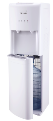 Primo White two Spout Bottom Load Cooler Dispenser